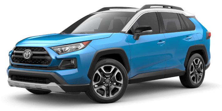 2020 Toyota RAV4 in Blue Flame/Ice Edge Roof
