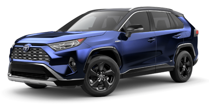 2020 Toyota RAV4 in Blueprint/Midnight Black Metallic Roof