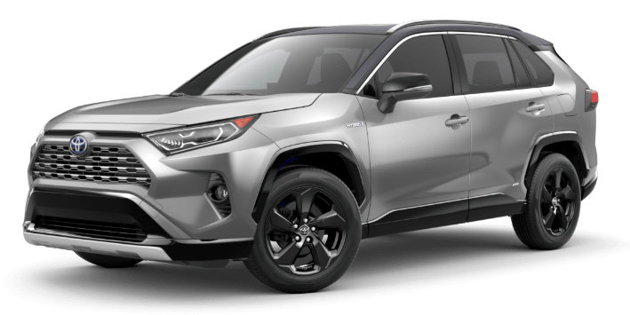 2020 Toyota RAV4 in Silver Sky Metallic/Midnight Black Metallic Roof