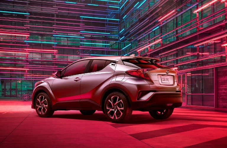A rear right quarter photo of the 2020 Toyota C-HR.