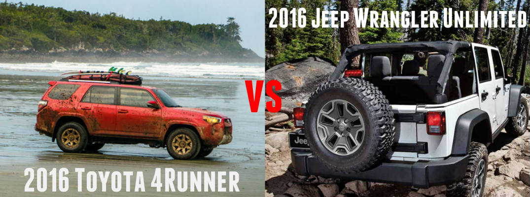 toyota 4runner vs jeep wrangler unlimited. Black Bedroom Furniture Sets. Home Design Ideas