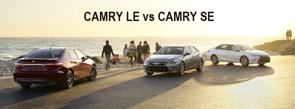 differences between 2016 camry le and se. Black Bedroom Furniture Sets. Home Design Ideas