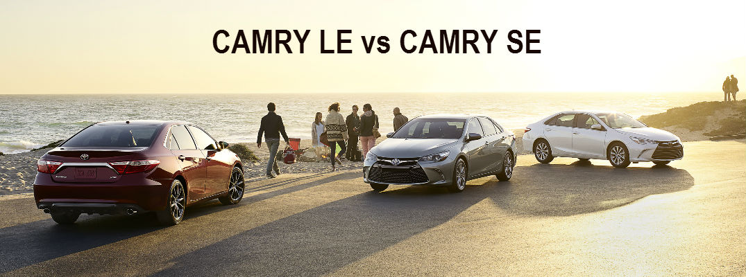 Camry Le Vs Se >> Differences Between 2016 Camry Le And Se