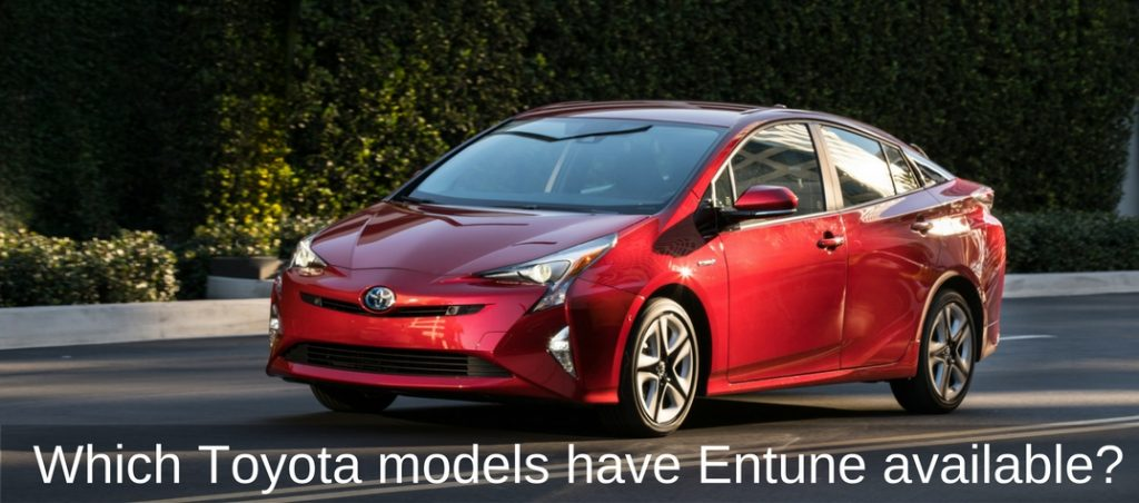 Which Toyota Models Have Entune Available