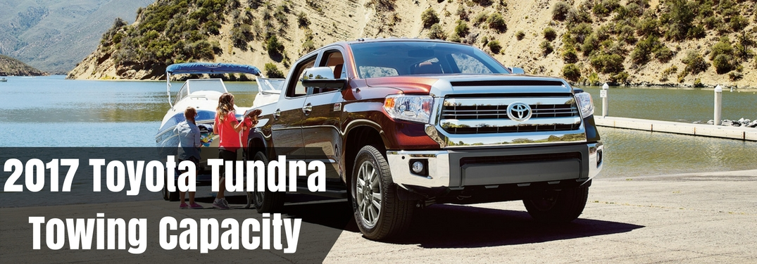 Great Toyota Of Decatur Official Blog. Home » Toyota Tundra » 2017 Toyota Tundra  Towing Capacity
