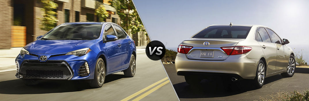 2017 Corolla Mpg >> 2017 Toyota Corolla Vs 2017 Toyota Camry Mpg Hp Features