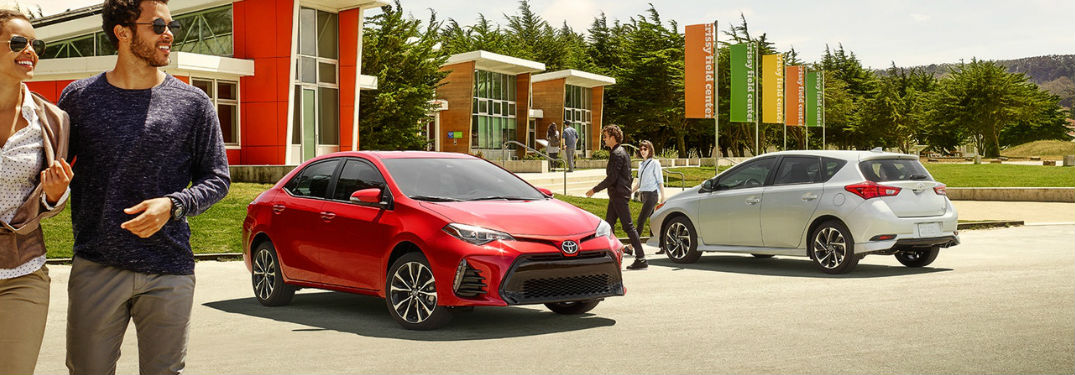 2018 toyota Corolla Exterior View in Red and Rear View of 2018 Toyota Corolla iM