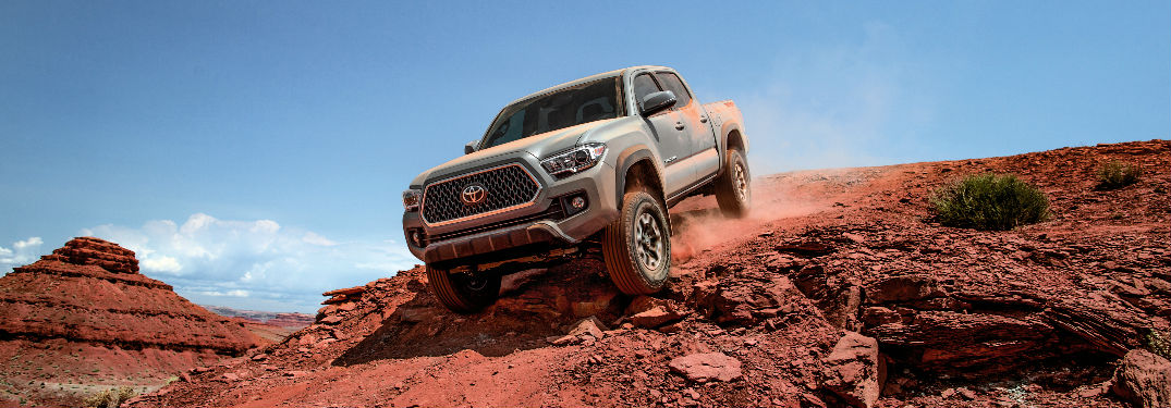 2018 Toyota Tacoma Front and Side View of the Exterior in Silver