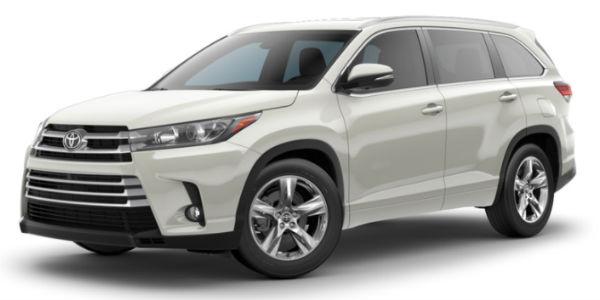 2018 Toyota Highlander Exterior Color Customization Options