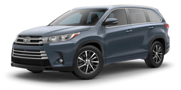 2018 Toyota Highlander Exterior Color Customization Options