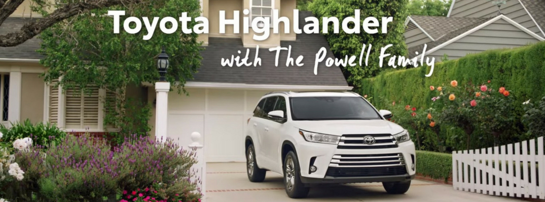 Screenshot from 2018 Toyota Highlander Commerical with the Powell Family