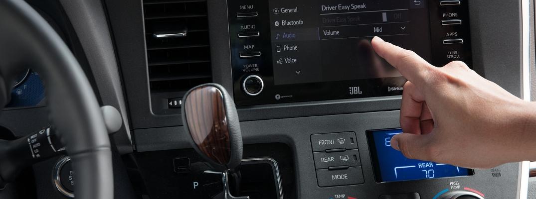 2019 Toyota Sienna Finger on Touchscreen Interface