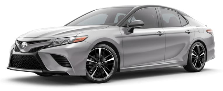2019 Toyota Camry Celestial Silver Metallic With Midnight Black