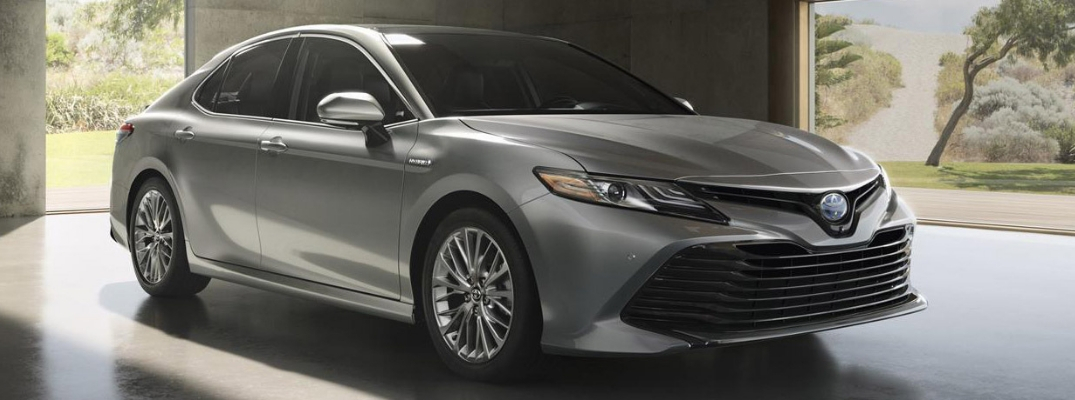 2019 Toyota Camry Front View Of Gray Exterior O Toyota Of Decatur