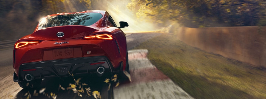 2020 Toyota Supra Rear View of Red Exterior