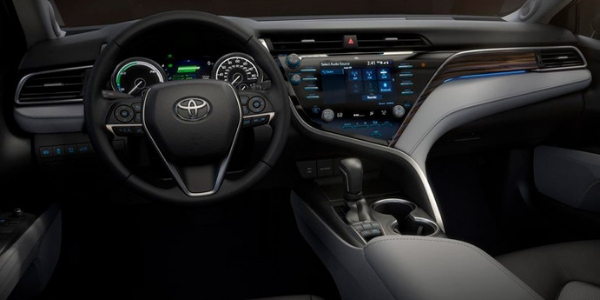 Interior view of 2018 Toyota Camry