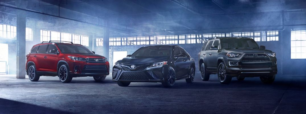 Nightshade Edition Highlander, Camry and 4Runner