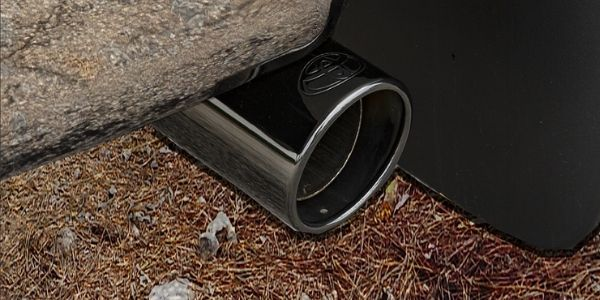 Closeup of exhaust pipe on Toyota Tundra XP Gunner