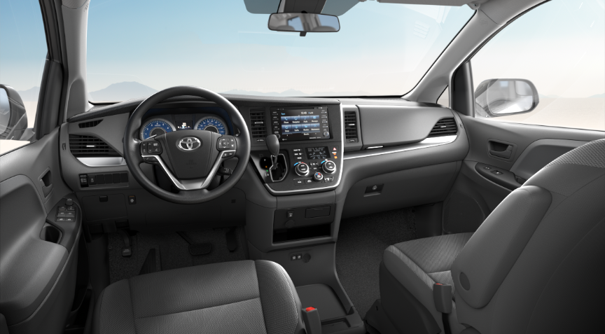 Ash Fabric in 2020 Toyota Sienna