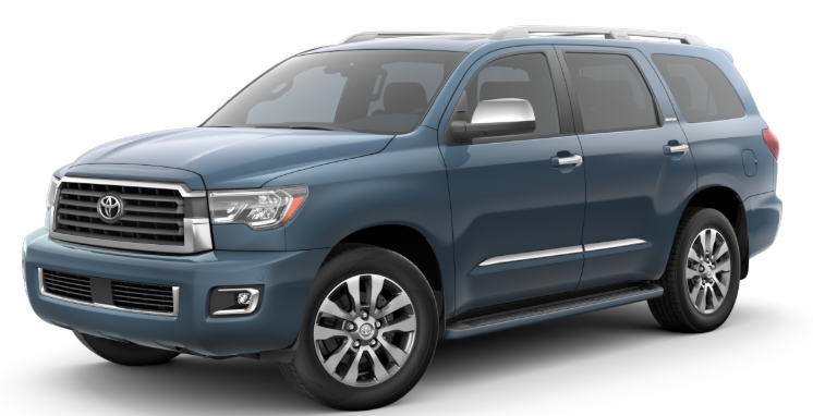 2020 Toyota Sequoia in Shoreline Blue Pearl