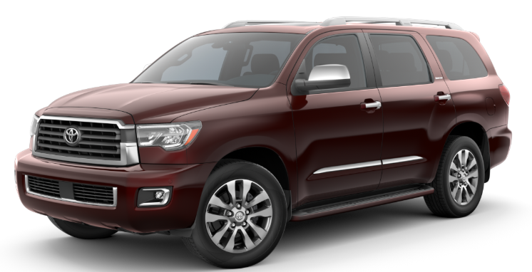 2020 Toyota Sequoia in Sizzling Crimson Mica