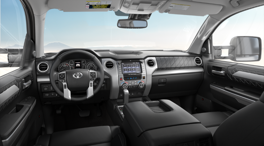 Premium Black Leather in 2020 Toyota Tundra