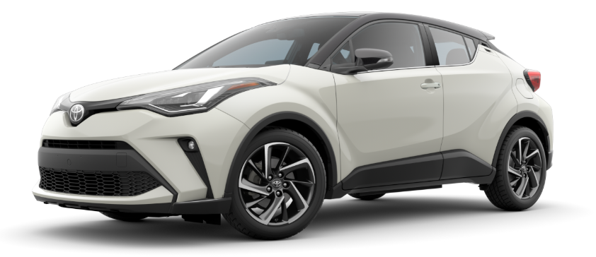 2020 Toyota C-HR in Blizzard Pearl R-Code Black