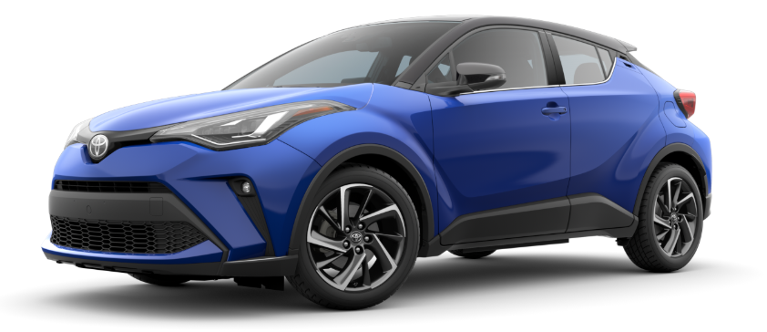2020 Toyota C-HR in Blue Eclipse Metallic R-Code Black
