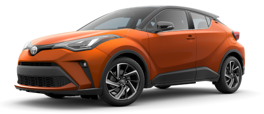 2020 Toyota C-HR in Hot Lava R-Code Black