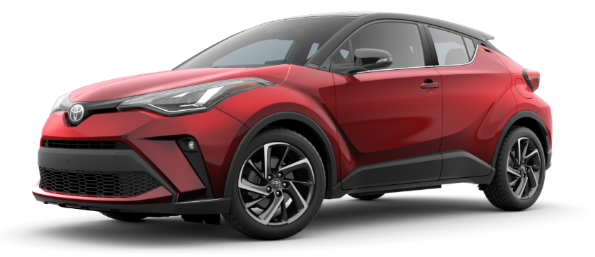 2020 Toyota C-HR in Supersonic Red R-Code Black