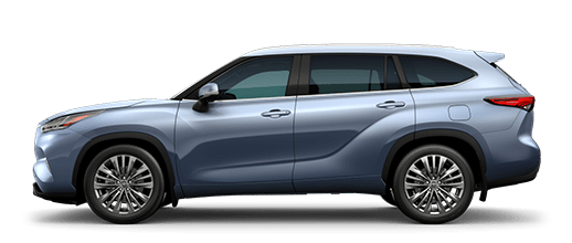 A left profile photo of the 2020 Toyota Highlander.