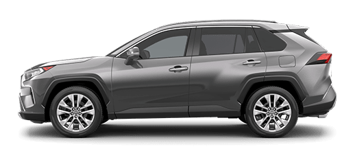 A left profile photo of the 2020 Toyota RAV4.