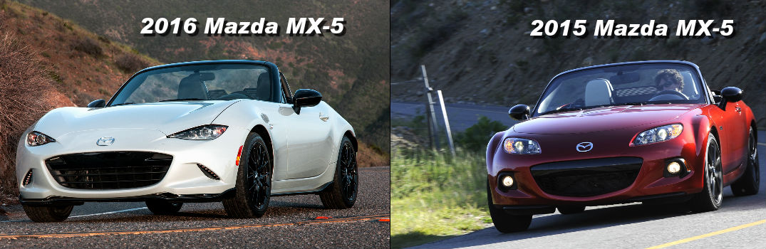 Difference between the 2016 Mazda MX-5 and 2015 Mazda MX-5