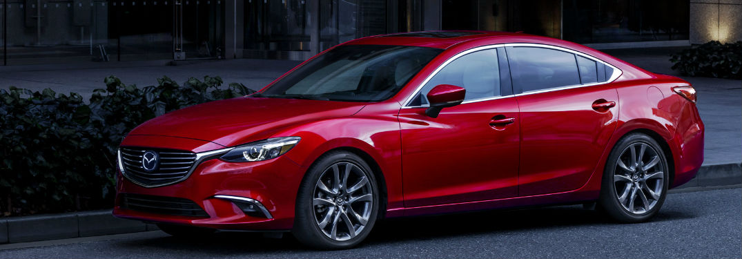 2017.5 Mazda6 Exterior View in Red of Side and Front End
