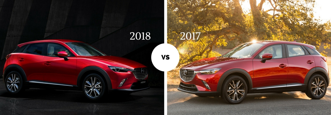 2018 Mazda CX-3 vs 2017 Mazda CX-3 side views of each vehicle