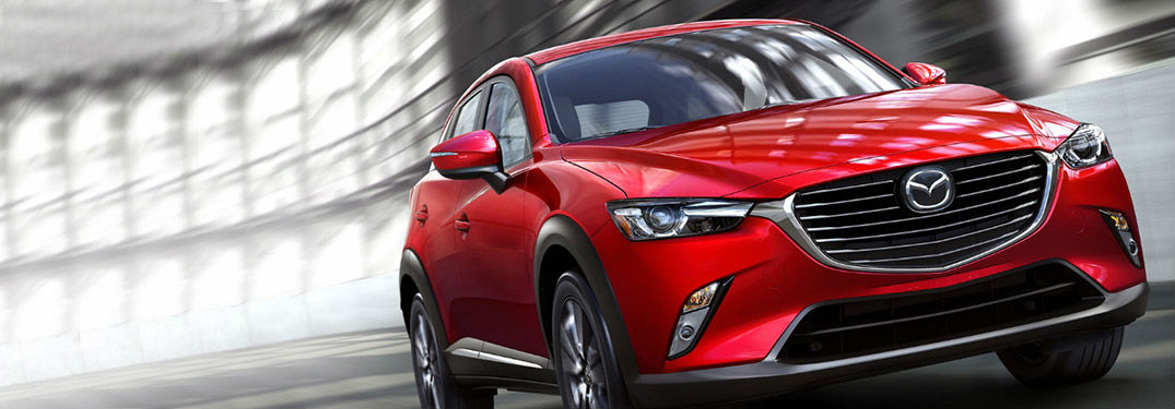 2018 Mazda CX-3 Exterior View of Side and Front End in Red