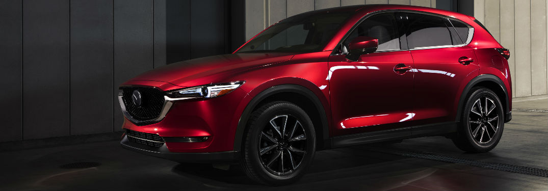 2018 Mazda CX-5 Exterior View of Side and Front End in Red