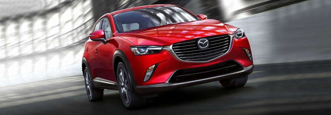 red 2018 Mazda CX-3 front view