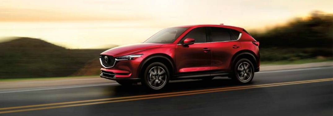 Side View of 2018 Mazda CX-5 in Red Paint Color