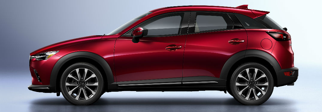 Side Exterior View of the 2019 Mazda CX-3