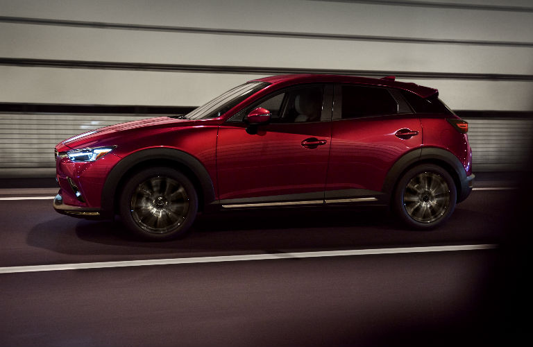 2019 Mazda CX-3 Exterior Side View in Red