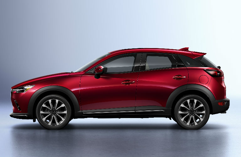 2019 Mazda CX-3 Side View in Red Coloring