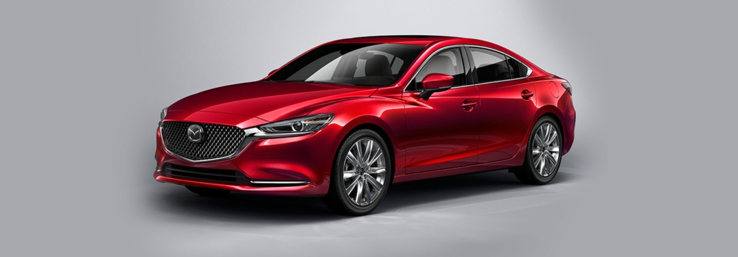 red 2018 Mazda6 front side view