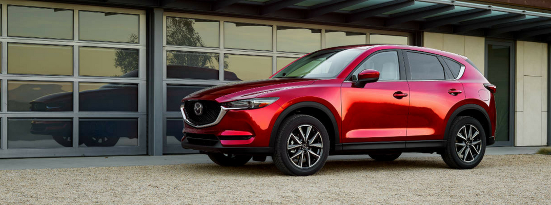 2018 Mazda CX-5 Side View of Red Exterior