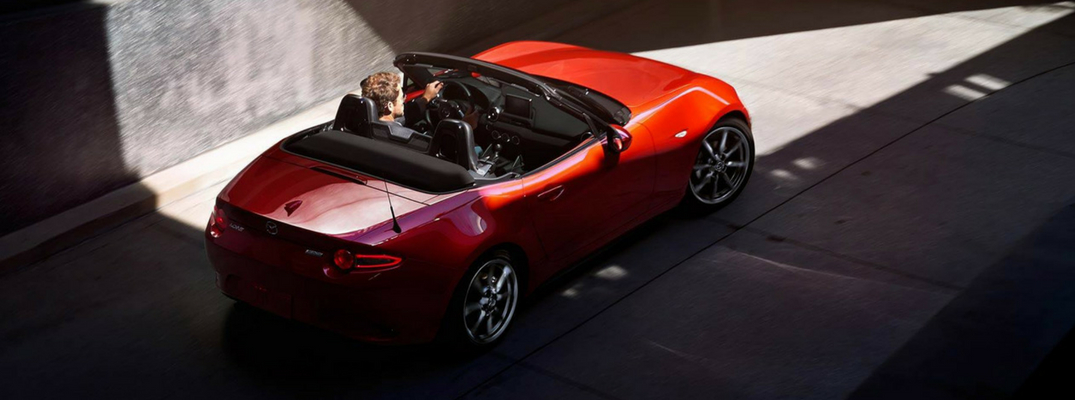 2018 Mazda MX-5 Miata Overhead View of Red Exterior