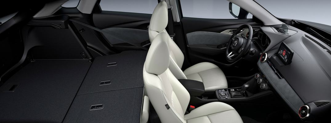 2019 Mazda CX-3 cargo space with rear seats down
