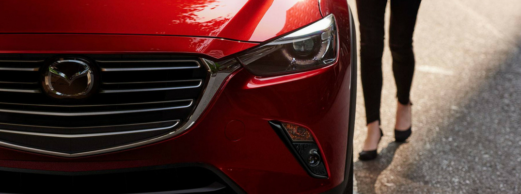 2019 Mazda CX-3 Close up View of Red Exterior