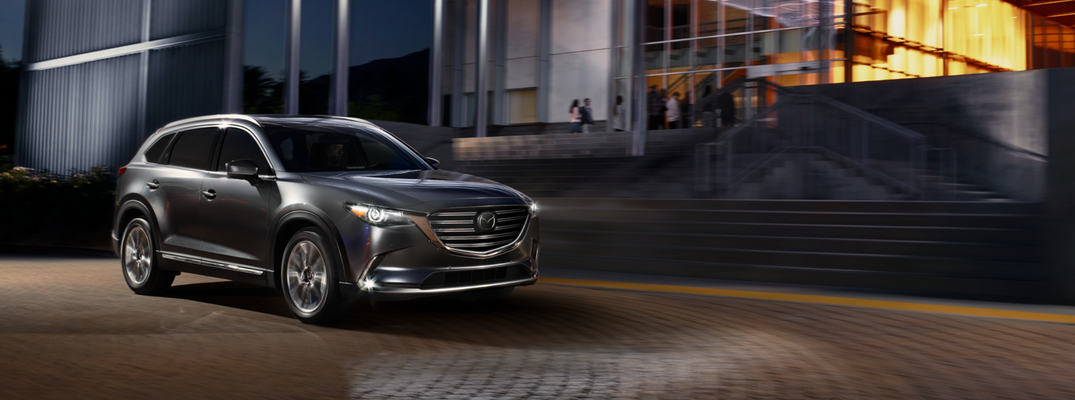 2018 Mazda CX-9 Black Exterior in Front of Building