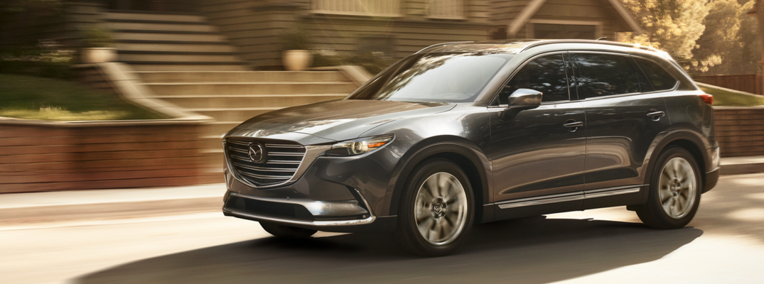 2019 Mazda CX-9 Side View of Gray Exterior