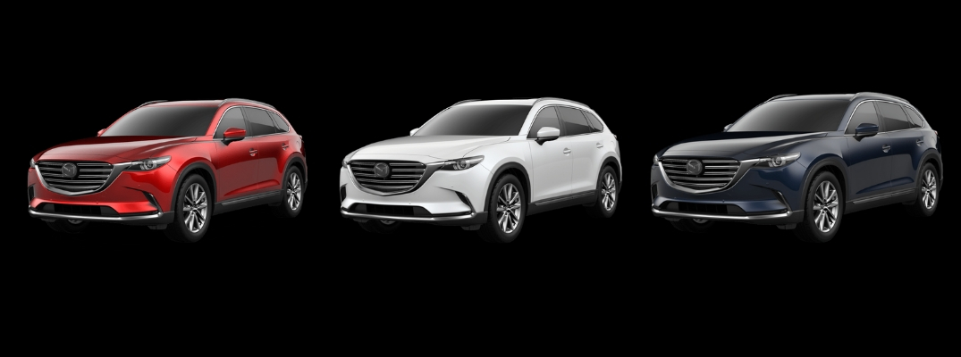2019 Mazda CX-9 in Red, White, and Blue Paint Colors
